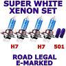 Citroen C4 Cactus SUV 2014+ H7 x4pcs Phare Halogène Ampoules + W5W 501