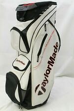 *Used* TaylorMade San Clemente Cart Golf Bag (White) 14-Way Divider Titleist Bag