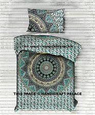 Indian Elephant Mandala Quilt Bohemian Hippie Boho Duvet Doona Cover Set Bedding