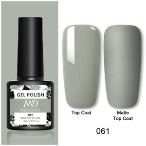 MAD DOLL Nail Gel Polish UV LED Soak Off Nail Gel Varnish Top Base Gel Colour