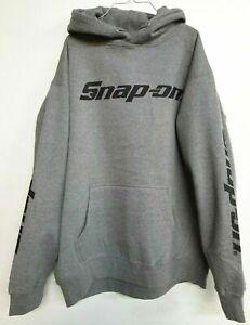 NEW Snap On Tools Men's Gray Hoodie Hooded Sweatshirt Black Logo Free Shipping