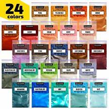 Epoxy Resin Dye - Mica Powder - 24 Powdered Pigments Set - Soap Dye