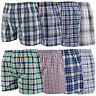 1s 6pk Mens Woven Classic Loose Style Boxer Shorts Cotton Underwear All Sizes