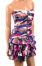 NEW LADIES SILK CORSET RUFFLE RARA DRESS ,RRP £190, PETITE SIZES 6 & 8, BNWT