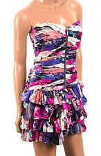 NEW LADIES SILK CORSET RUFFLE RARA DRESS ,RRP £190, PETITE SIZES 6, 8, 10, BNWT