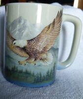 Vintage Otagiri Japan Eagle Mountains Ceramic Coffee Tea Mug Cup Great Condition