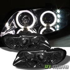 Smoked 2004-2006 Pontiac GTO Halo Projector LED Headlights Headlamps Left+Right