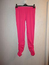 BNWT Ladies Size 10 Pink Ruffled Bottom Leggings By Look RRP £27