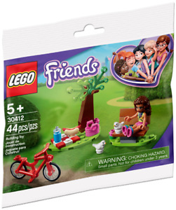Lego 30412 - Friends - Park Picnic - Polybag - New & Sealed W/ Chickens + Bike