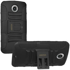 Amzer Black Hybrid Kickstand Case for Google Motorola Nexus 6 Xt1103 Xt1100