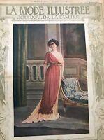 Edwardian MODE ILLUSTREE  July 14, 1912+ sewing PATTERN sheet