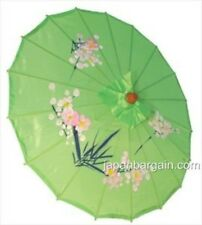 New listing Japanese Chinese Umbrella Parasol 22in Green 157-6