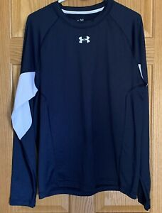 UNDER ARMOUR Pullover Mens Size XL Blue Coldgear Long Sleeve Shirt