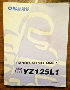 1999 Yamaha YX125 L1 Owner's Service Manual # 5ET-28199-10 OEM