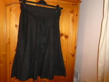 Black flared linen blend skirt, ATMOSPHERE, size 10, NEW with TAG (BNWT)