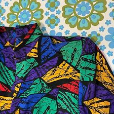 VINTAGE Retro Dress Short Size 12 NIGHT SHIFT Loud Awesome
