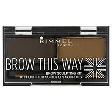 Rimmel Brow This Way Eyebrow Sculpting Kit Powder Wax 003 Dark Brown