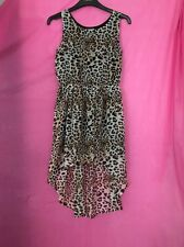 Leopard Print Sleeveless Party Dress Age 11-13 Eur 152 H&M