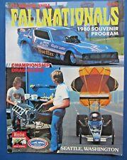 Nhra 1980 Fallnationals, Seattle, Wa. 6th Annual, Program & Entry Lists