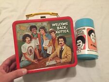 VINTAGE 1977 Aladdin WELCOME BACK KOTTER Metal Lunch Box w/ Thermos Lunchbox