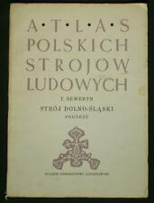 BOOK ATLAS OF POLISH FOLK COSTUME dolny slask Silesian ethnic dress POLAND cap