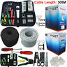305M RJ45 CAT6 CAT5E ETHERNET NETWORK OUTDOOR CABLE TESTER UTP 1000Mps ADSL LOT