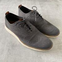 Cole Haan Original Grand Stitchlite Wingtip Oxford Shoes Size 13 Magnet Gray Men