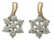 Leverback Yellow Gold SI2 Fine Diamond Earrings