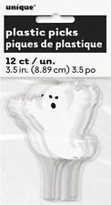 Halloween Ghost Plastic Cupcake Toppers/Picks x 12