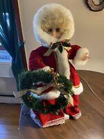 Mrs. Claus Vintage Electonic Animated Christmas Figurine Holiday Decoration