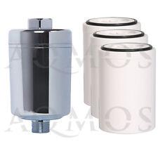 1 Duschfilter Chrom + 3 Wechselfilter Kalkfilter Allergie Reisefilter Chlor Rost
