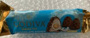 12 package of 30g : 360g Godiva  Domes CHOCOLATE Coconut Crunch 12 oz