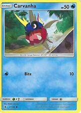 POKEMON SUN & MOON GUARDIANS RISING CARD: CARVANHA - 27/145