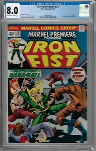 Marvel Premiere # 19 CGC 8.0 ow/wp 1st app. of Colleen Wing,  Starlin Cover