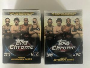 2019 Topps Chrome UFC MMA VALUE/BLASTER Box Lot of Two HTFFactory Sealed