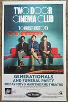 TWO DOOR CINEMA CLUB Gig POSTER Nov 2010 Portland Oregon Concert