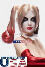 "1/6 Harley Quinn Female Joker Head Sculpt Suicide Squad For 12"" PHICEN Figure"