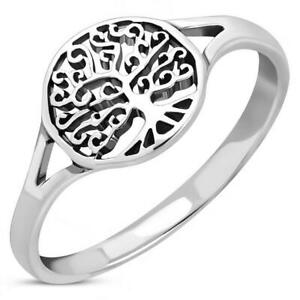 Sterling Silver 925 Ring - Tree of Life Ring - Multiple Sizes