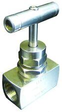 """B15-01156 Stainless Steel Needle Valve - BSPP 1"""" BSPP Needle Valve-Stainless Ste"""