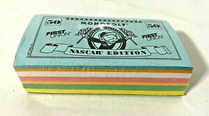 Vintage 1997 NASCAR Edition Monopoly Game Replacement Play Money - Sealed