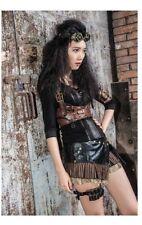 RQ-BL black steampunk skirt