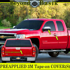 2007-2013 SIERRA 2D SILVERADO Chrome Door Handle Covers+Mirror+Tailgate WKeyhole
