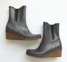 Tretorn Womens Size 8.5 Brown Wedge Rain Boots