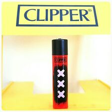Clipper Lighters x1 Cool Rare Black & Red Amsterdam XXX Coffee Shop Smoke Gift