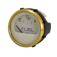 Faria Gp9882A Gold Color / White Marine Boat Fuel Level Gauge