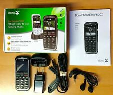 New Doro Phone Easy 520X Black Unlocked Camera Mobile Phone + Emergency Button