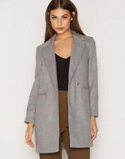 Topshop Meg Grey Collar Slim Fit Zip Pocket Biker Boyfriend Jacket Coat 6 - 16