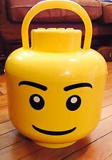 Lego Head Storage Sort And Store Large Minifig Minifigure Sift Yellow Boy Bucket