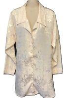 Vintage Victoria's Secret Ivory Paisley Sleep Shirt Gown Gold Label Med/Lrg