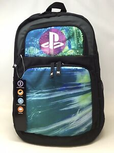 PlayStation Laptop Backpack Officially Licensed, Black/Multicolor NEW FREE SHIP